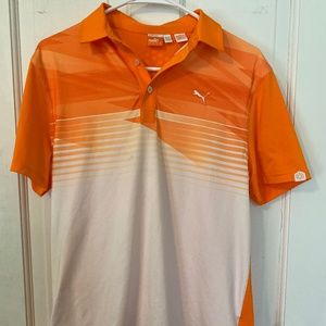Puma BRIGHT Orange Athletic Polo - Men's XL